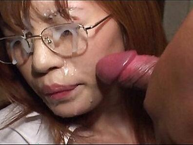 cock sucking, HD bukkake, japanese models, no censorship, perfect body, wearing glasses xxx movie