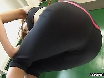 fit models, horny and wet, japanese models, sex during workout, sexy babes, solo model, watching sex xxx movie
