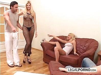 blondies, deep penetration, dick, double penetration, enjoying sex, foursome sex, hot babes, massive cock xxx movie