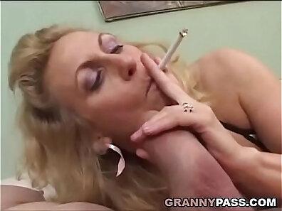 cigarette, cock sucking, dick, mature women, older woman fucking, plump xxx movie